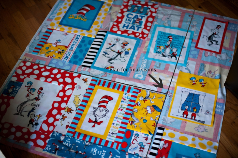 dr seuss fabric baby quilt