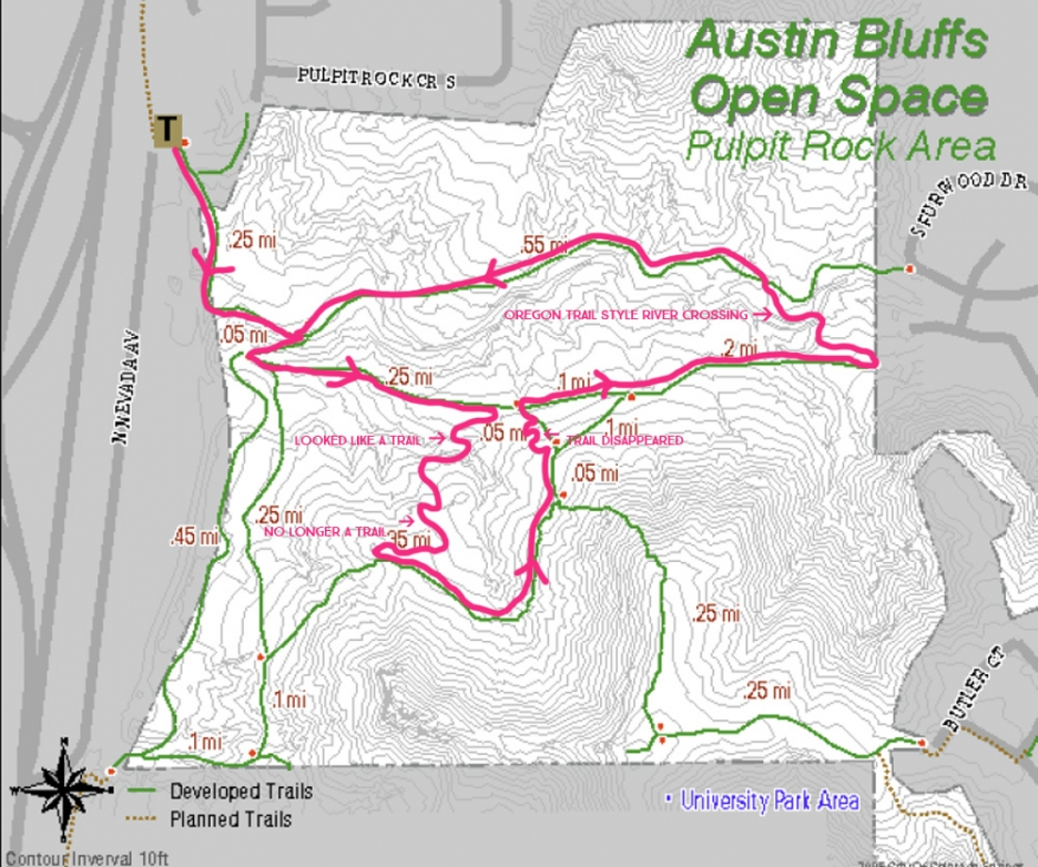 pulpit rock map